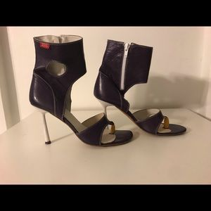 Miss sixty purple heels bootie